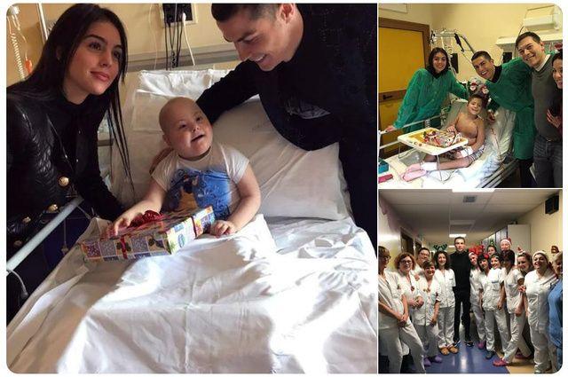 TURIN: CR7 passe Noël dans un hôpital