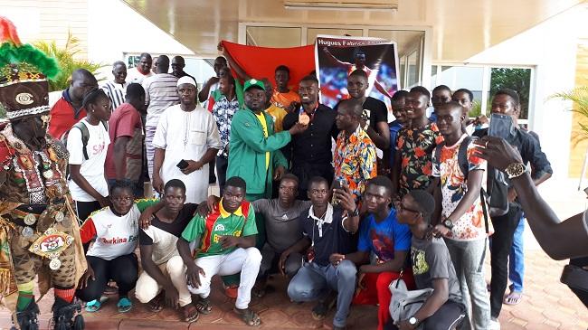 De retour de Doha : Fabrice Zango accueilli en héros à Ouaga
