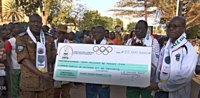SOUTIEN AUX FDS: le mouvement sportif offre 11 millions de F CFA