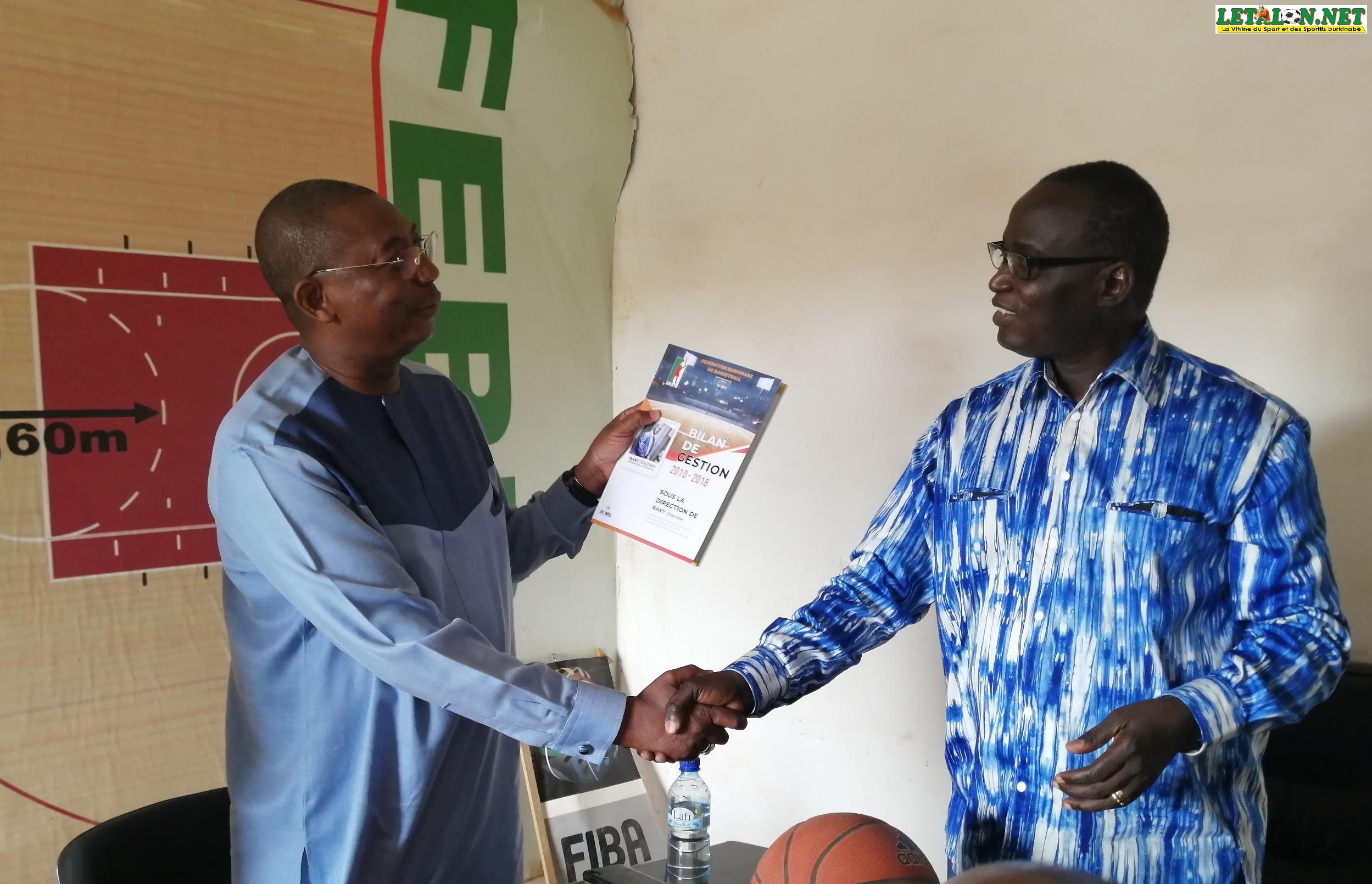Fédération burkinabè de basketball : Baky passe la main à Yamsoul après 10 ans de présidence