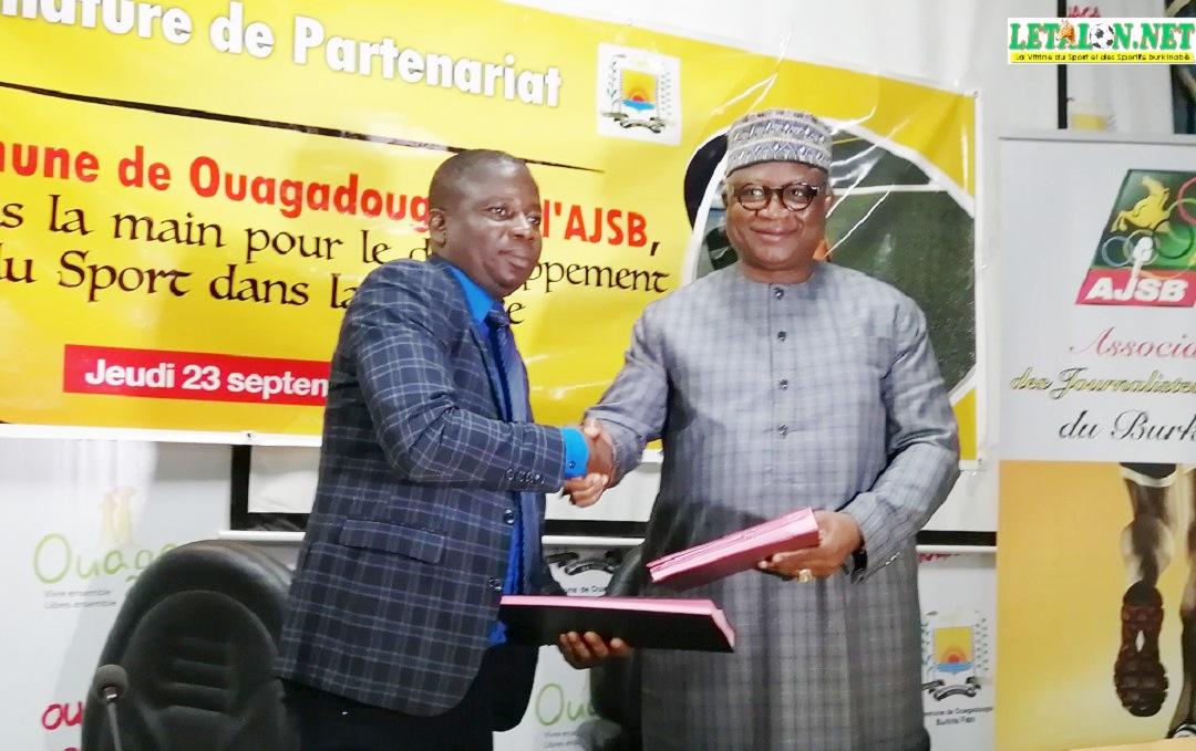Mairie de Ouaga-AJSB : un partenariat qui pèse cinq briques !
