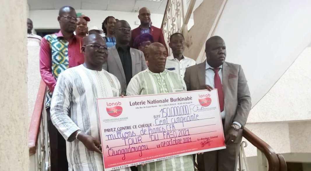 Organisation Tour du Faso 2021 : La LONAB injecte 150 millions FCFA